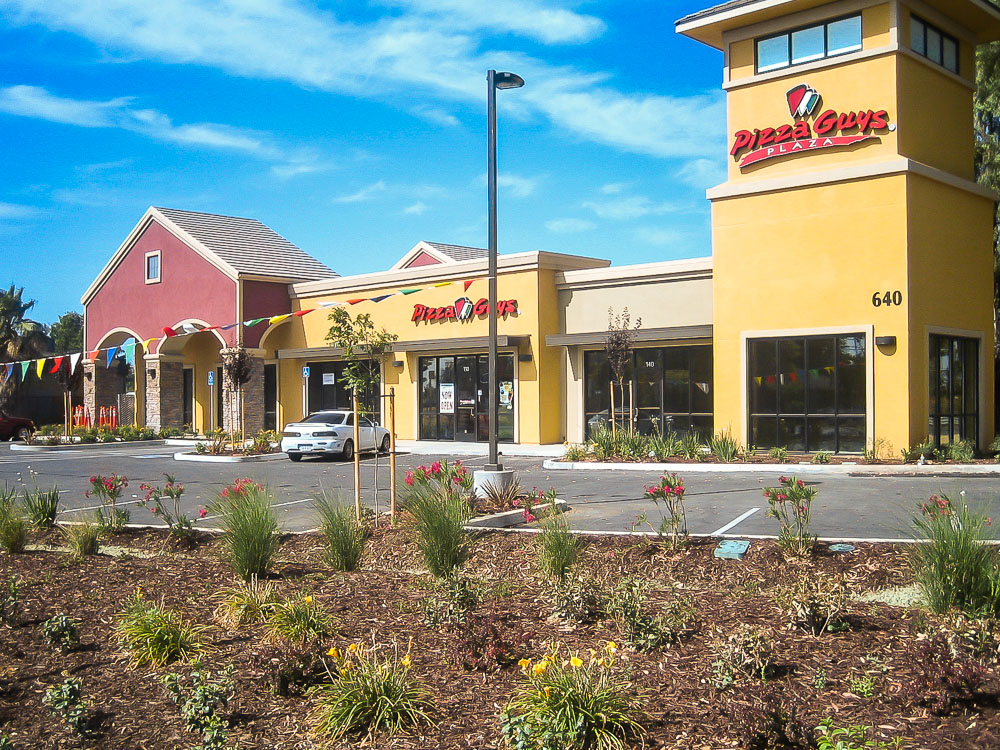 Retail Building Construction Sacramento California. Built by GP Development Corp - Retail Building Specialists.
