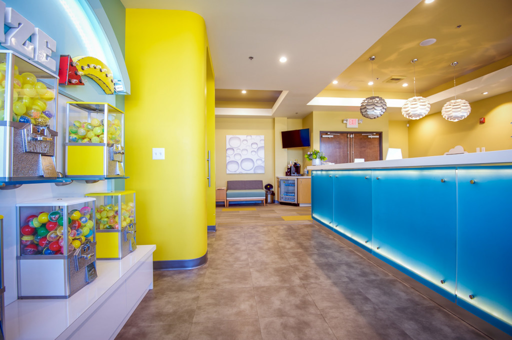 Pediatric Dentist Office Construction Roseville California. Built by GP Development Corp - Dental Office Construction Specialists.